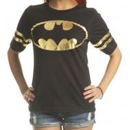 Batman DC Comics All Foil Juniors Athletic T-Shirt