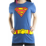 DC Comics Superman Super Girl Logo Juniors Costume T-Shirt
