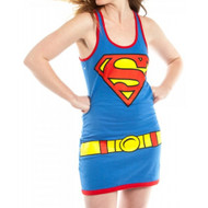 DC Comics Supergirl Juniors Racer Tank-Top Costume Superman Shirt