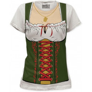 Impact Fraulein Octobeerfest Barmaid Junior's Fitted Costume T-shirt
