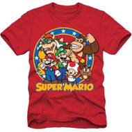 Super Mario Bros Group Shot Youth T-shirt
