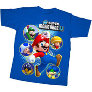 Nintendo T-shirt New Super Mario Bros. U Super Cast Tee