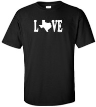 Love Texas Adult T-Shirt