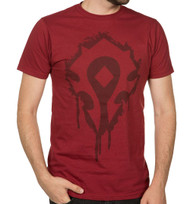 World of Warcraft Horde Crest Stencil Premium Vintage Adult T-Shirt