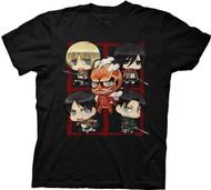 Attack On Titan Chibi Adult T-shirt