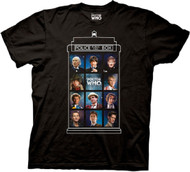 Doctor Who 50 Years, 11 Doctors Adult T-shirt