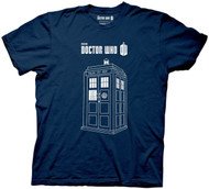 Doctor Who Series 7 Linear Tardis Adult T-shirt