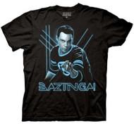 The Big Bang Theory - Glowing Sheldon Adult Black T-Shirt