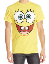 SpongeBob Squarepants Face Logo Adult T-Shirt