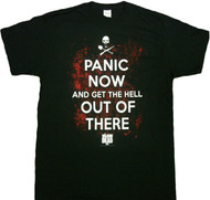 The Walking Dead Panic Now Get The Hell Out Of There Adult T-Shirt