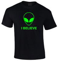 Aliens I Believe Adult T-shirt
