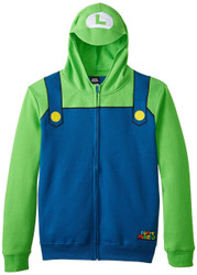 Nintendo Luigi Bill Zip-Up Youth Costume Hoodie