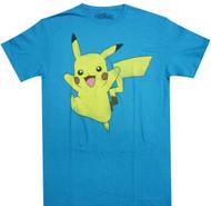 Pokemon Pikachu Jump Adult T-Shirt