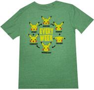 Pokemon Pika Week Adult T-Shirt