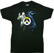 Overwatch Genji and Hanzo: World of Conflict Adult T-Shirt