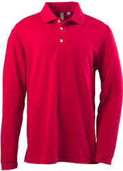 Ashworth 1352 Men's EZ-Tech Long-Sleeve Polo