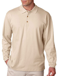 UltraClub U8501 Men's Egyptian Interlock Long Sleeve Polo Shirt