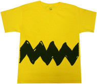 Peanuts Charlie Brown Costume Youth Yellow T-shirt