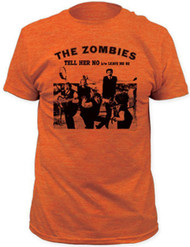 The Zombies Tell Her No Adult Heather T-Shirt