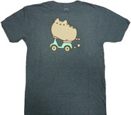 Pusheen The Cat Scooter Adult T-Shirt