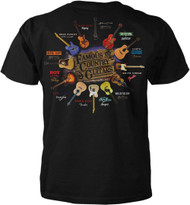 Famous C & W Country & Western Guitars Adult T-Shirt