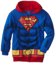 DC Comics Superman Puffed Zip Up Youth Hoodie