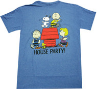Peanuts House Party Adult T-Shirt