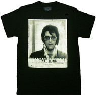 Elvis Presley Jail Mug Shot Adult T-Shirt