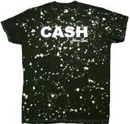 Johnny Cash - Cash Block Music Rebel Splatter Adult T-Shirt