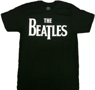 The Beatles - Solid White Logo Adult T-Shirt