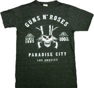 Guns N Roses Skeleton L.A. Label Vintage Adult T-Shirt