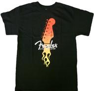 Fender Strat Flaming Head Adult T-Shirt