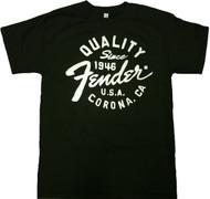 Fender Quality Since 1946 Corona, CA Adult T-Shirt