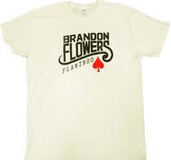 Brandon Flowers - Flamingo Logo Adult T-Shirt