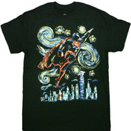 DC Comics Superman Flying Abstract T-Shirt