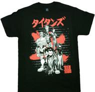 Teen Titans Japanese Logo Adult T-Shirt