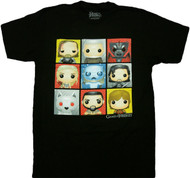 HBO'S Game of Thrones - Funko Character Boxes Adult T-Shirt
