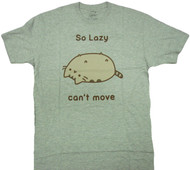 Pusheen The Cat So Lazy Can't Move Adult T-Shirt