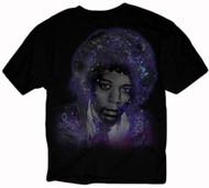Jimi Hendrix Deep Galaxy Face Juniors T-Shirt