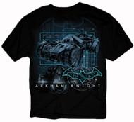 Batman Arkham Knight Batmobile Techno Adult T-Shirt