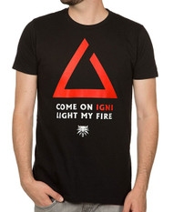 Witcher 3 Axii Igni Light My Fire Premium Adult T-Shirt
