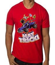 Rocket League Hat Trick Premium Adult Red T-Shirt