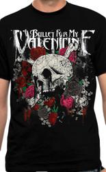 Bullet For My Valentine Skull N Roses Adult T-Shirt