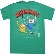 Adventure Time With Finn And Jake Algebraic Adult T-Shirt