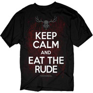 Hannibal Keep Calm And Eat The Rude Adult T-Shirt