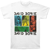 David Bowie - Colored Squares Adult T-Shirt
