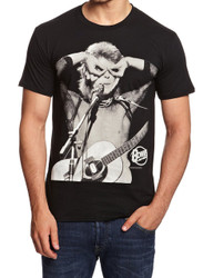 David Bowie Acoustic Mic Eyes Adult T-Shirt