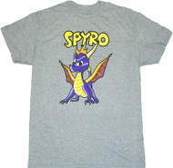 Spyro The Dragon Hero Standing Adult T-Shirt