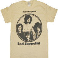 Led Zeppelin Evening With Circle Logo Adult T-Shirt