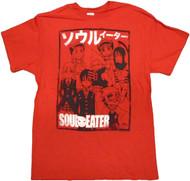 Soul Eater Team Outline Adult T-Shirt